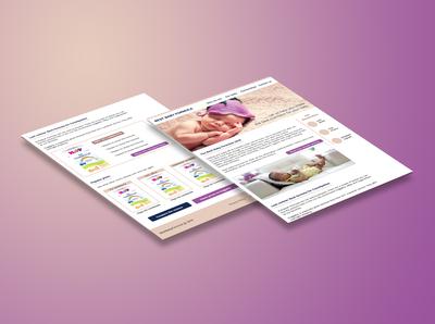 Baby formula blog Wireframe & Website concept design