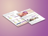 Baby formula blog Wireframe & Website concept design