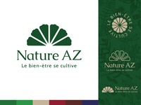 Nature AZ apothecary style logo