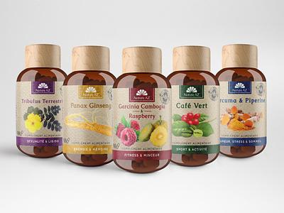Nature AZ Natural suplements Label design mockup design mockup organic natural label and box design label packaging label design label supplement