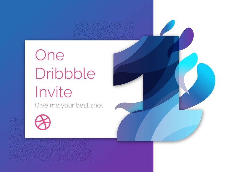 Dribbble Invite 1 number 1 number dribbble invitation dribbble invite dribbble