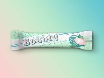 Weekly Warm-up #3 - Bounty Candy Bar Vintage Redesign
