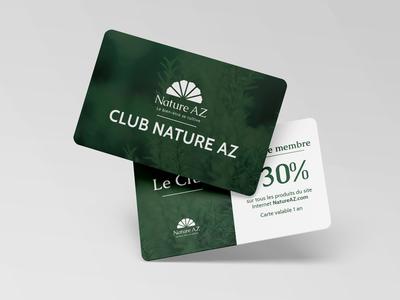 Nature AZ Loyalty card design