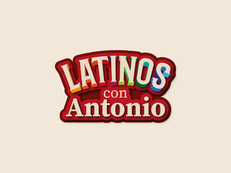 Latinos con Antonio design vector illustration logo latinos
