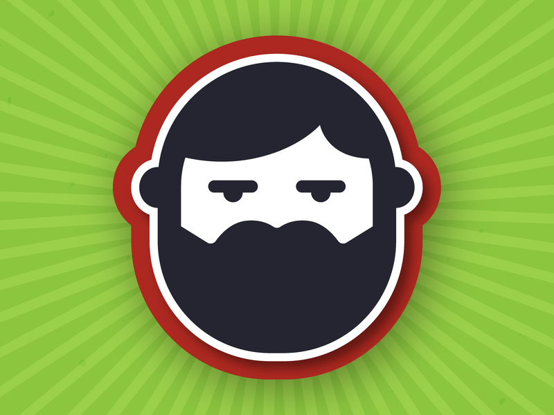 Beard logo beard design vector illustration