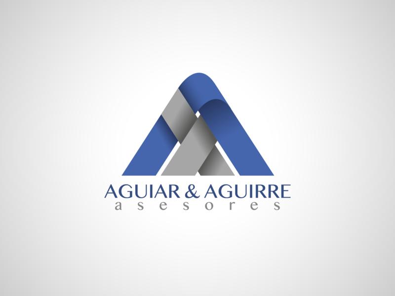 Aguiar Aguirre Asesores insurance branding logotype logo design logo vector design