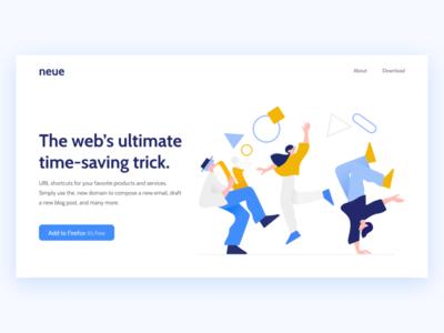 Neue—Landing Page