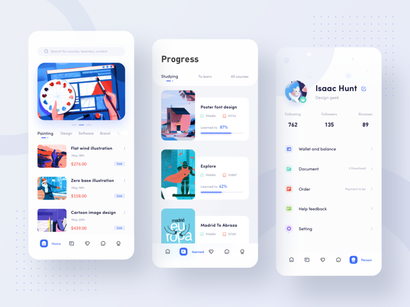 Course learning application 图标 design 设计 ux ui