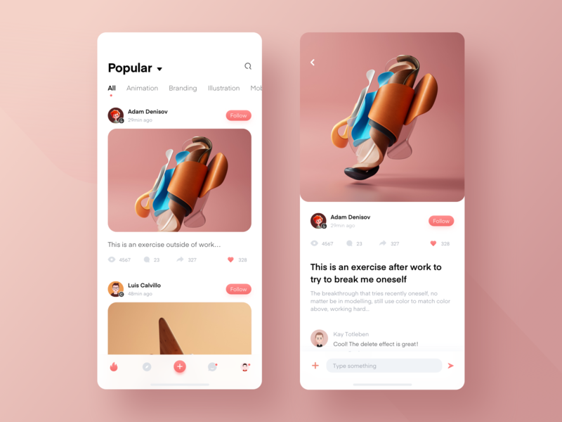 Some thoughts on the design of sharing app branding mobile animation 网页 illustration ux design 设计 ui