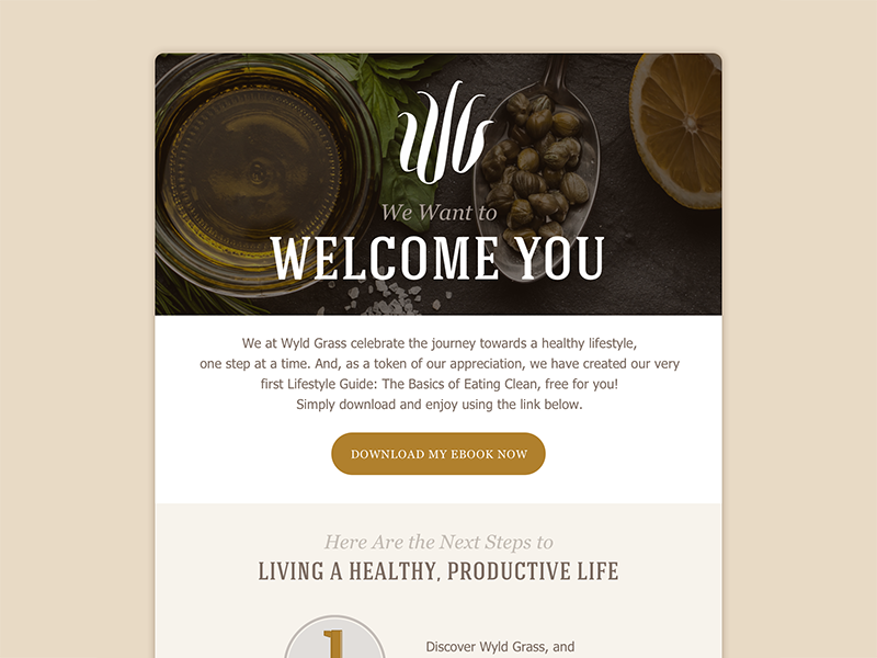 Wyld Grass – Onboarding Email welcome ebook copywriting copy photo branding email on-boarding abu dhabi egypt uae wyld grass