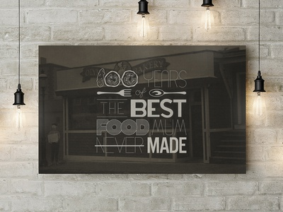 Olympos Bakery – 100 Years Canvas
