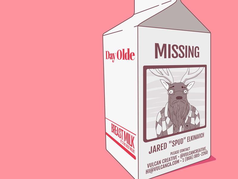 Jared – Milk Carton sepia red brown pink white day olde breast spud jared missing carton milk
