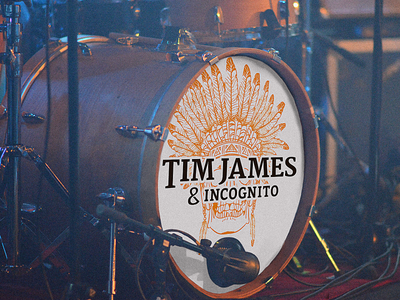 Tim James & Incognito Bass Drum Logo
