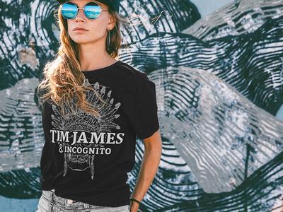 TJ & Incognito – Black Shirts apparel t-shirt photography typography illustration logo brand minimal screen printing black and white shirts