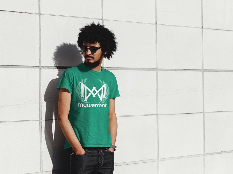 MyWarrant Brand – Shirts shirt design screenprint design monogram monogram logo branding green logo illustrator typography illustration brand vector green designer