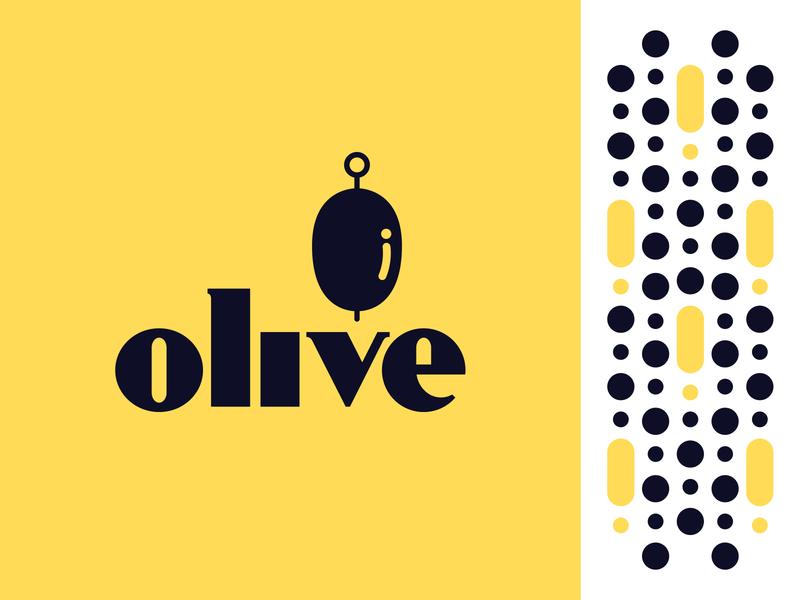 Olive Brand – Mark serif logo yellow logo icon brand olive contrast patterning app branding financial martini custom lettering typography illustrator branding logo