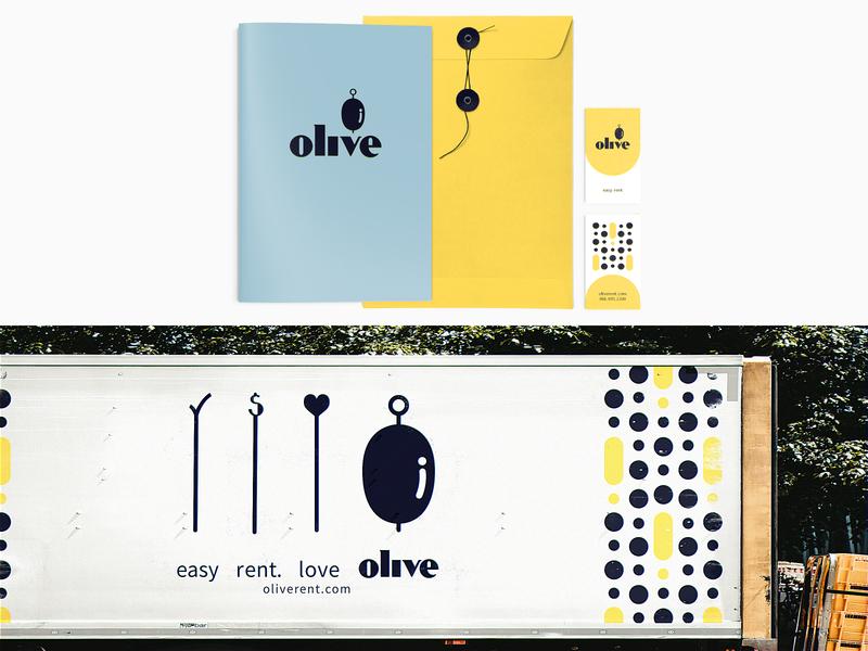 Olive Brand – Collateral branding and identity billing rent billboard fpv drone branding agency olive martini drunks alchohol advertisement advertising logo branding design branding print