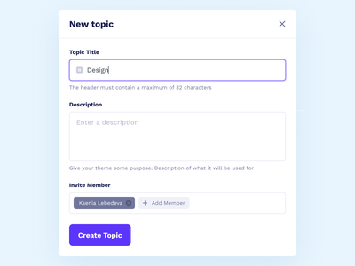 New Topic group forum input website web forms messages topic