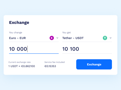 Exchange uiux ui website web banking finance cryptocurrency crypto bank transfer exchange