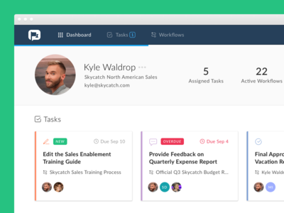 Relay Dashboard Dribbble assignee workflow relay task ui profile feed activity dashboard