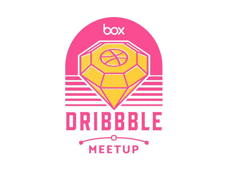 We're hosting a Dribbble Meetup dribbble meetup diamond screen print badge sticker sketch vector logo meetup dribbble