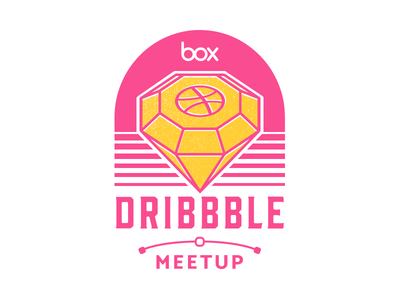 We're hosting a Dribbble Meetup dribbble meetup diamond screen print badge sticker sketch vector logo meetup dribbble