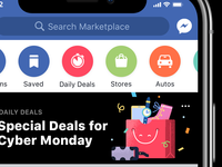 Cyber Monday Daily Deals Illustration