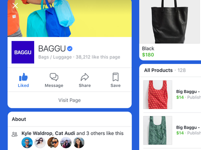 New Goods on Facebook Marketplace like smb business page verified cards profile commerce marketplace facebook