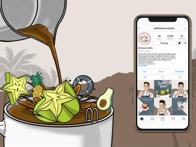 Coffee Illustration Content instagram social media branding conceptual illustration illustration