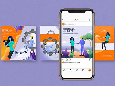 Editorial Illustration Content socialmedia instagram instagram post branding editorial illustration conceptual illustration editorial design illustration