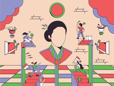 Kartini's Day Illustration character conceptual illustration illustration