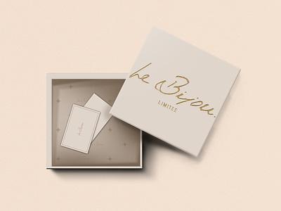 Packaging Design for Le Bijou typography logo luxury branding packaging design