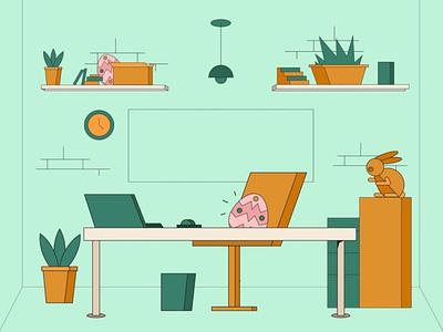 Easter Theme Illustration portfolio art easter bunny vector design vector illustration design flatdesign vector easter egg easter illustration
