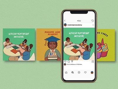 Children Illustration for an academy in Africa portfolio flat design art vector illustration design vector editorial illustration illustration