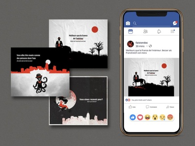 Horror Movie Festival portfolio flat design vector illustration art editorial design editorial illustration vector illustration design