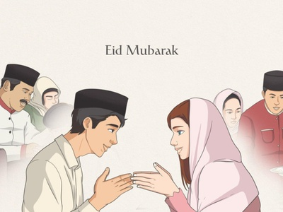 Eid Mubarak Illustration flat design portfolio design vector illustration art editorial design vector illustration editorial illustration