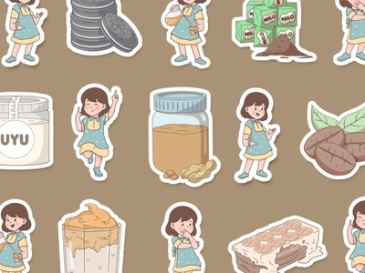 Sticker Sugarmama Illustration sticker design design art character stickers sticker vector editorial design editorial illustration illustration
