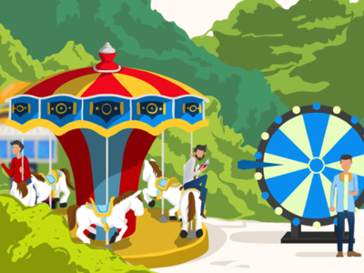Editorial Illustration: Carousel branding design crypto trading character cryptocurrency editorial illustration editorial design conceptual illustration illustration