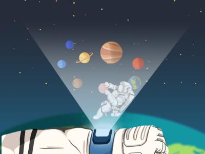 Editorial Illustration: Astronaut