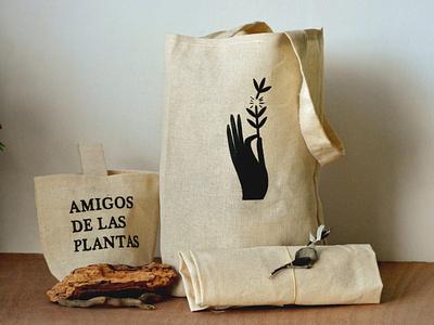 Totebag branding retro vintage bag design natureshop nature plants illustration classic totebag bag engraving design