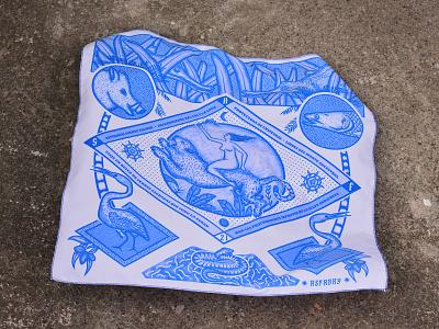 Yerboa ·Bandana· engraving shop classic logo branding bandanaart bandana nature wild apparel illustration design
