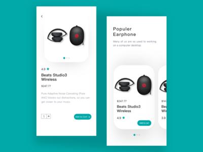 Headphone purchase interface design