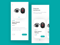 Headphone purchase interface design
