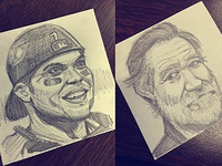 Post-It note pencil sketches.