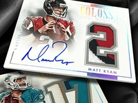 Colossal Jersey Numbers - 2014 National Treasures Football