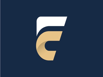 Fc Mark financial company logo capital letter f letter c f c investment