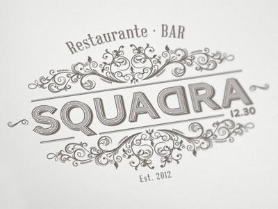 SQUADRA - Restaurante / Bar restaurant bar vintage victorian ornament logo