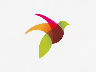 Home care home care services logo logotype logotipo bird colorful