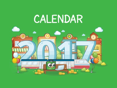 Tokopedia 2017 Cover Calender