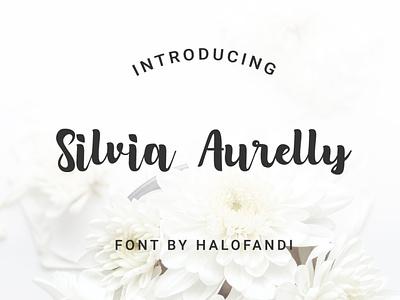 Silvia Aurelly Font retro calligraphic typographic handwritten signature typescript line lettering collection calligraphy character monoline latin typeset letter alphabet script typography font type